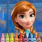 Anna Frozen Coloring