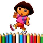 BTS Dora Coloring Book