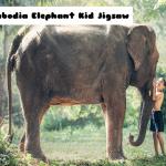 Cambodia Elephant Kid Jigsaw