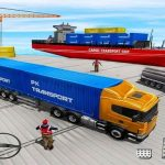 Cargo Transport Truck Driving