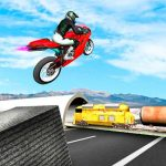 Highway Traffic Bike Stunts