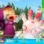 Masha Bee Hand Doctor Game Online – Hospital Surge