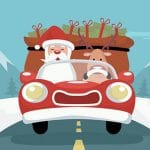 Santa Giving Presents Jigsaw